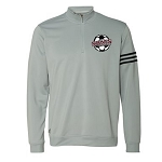 SBMS Soccer - Adidas Climalite 3-Stripes French Terry Quarter-Zip Pullover