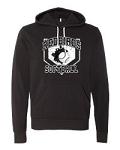 Redbirds Softball- HOME PLATE DESIGN- Bella + Canvas Full Zip Hooded Sweatshirt with Distressed logo