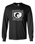 Redbirds Softball- HOME PLATE DESIGN- Long Sleeve T- Shirt with Distressed logo