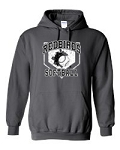 Redbirds Softball- HOME PLATE DESIGN- Hooded Sweatshirt with Distressed logo