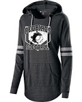Redbirds Softball - HOME PLATE DESIGN-Junior's Hooded Low Key Pullover with Distressed Logo