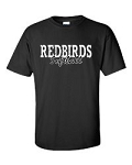 Redbirds Softball- REDBIRDS SOFTBALL DESIGN- Short Sleeve T- Shirt with distressed logo