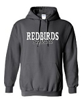 Redbirds Softball- REDBIRDS SOFTBALL DESIGN -Hooded Sweatshirt with Distressed logo
