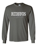Redbirds Softball- REDBIRDS SOFTBALL DESIGN- Long Sleeve T- Shirt with Distressed logo