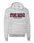 NEW SBMS  Logo on Bella + Canvas - Unisex Hooded Pullover Sweatshirt - Light Grey Marble
