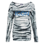 Icon Dance - MV Sport - Women's French Terry Off-the-Shoulder Tie-Dyed Sweatshirt