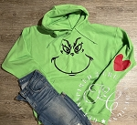 Inspired Designs - Grinch Hooded Sweatshirt