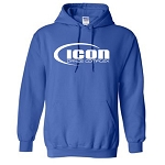 ICON DANCE - Royal Blue Hooded Sweatshirt