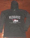 AHS Spiritwear - Women's Volley Hooded with Redbirds Mom Glitter