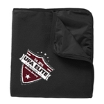 UFA Elite Apparel Port Authority® Fleece & Poly Travel Blanket with Logo