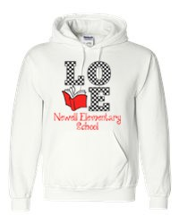 Newell Elementary Love to Read Hooded Sweatshirt