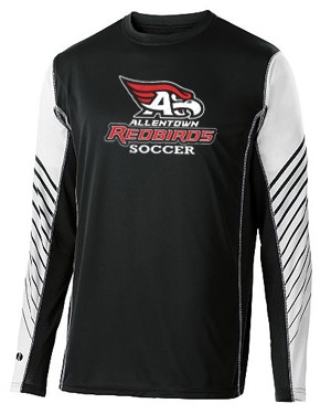 AHS Boys Soccer - Long Sleeve Moisture Wick Arc Shirt with Logo