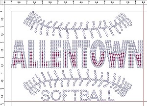 Allentown Softball Ladies Long Sleeve Rhinestone Shirt
