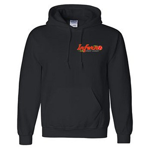 Embroidered Left Chest Inferno Hooded Sweatshirt