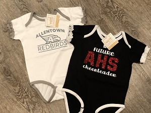 Personalized Rabbit Skins - Infant Ruffle Fine Jersey Bodysuit Onesie