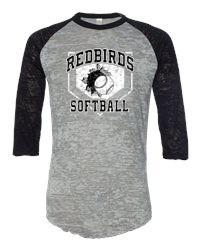 Softball - HOME PLATE DESIGN- Distressed Logo on Burnout Big League ...