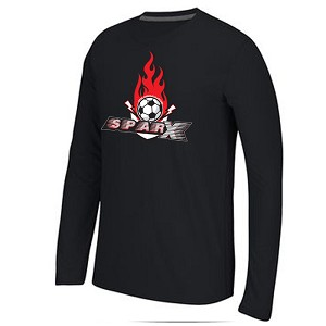 Sparx Apparel - Adidas Youth Climalite Long Sleeve Logo T-Shirt