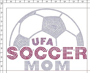 UFA Soccer Mom Ladies Long Sleeve Rhinestone Shirt