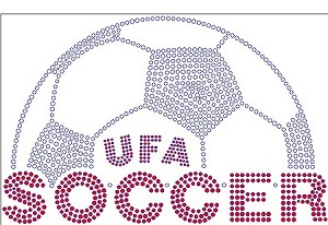 UFA Soccer Ladies Long Sleeve Rhinestone Shirt